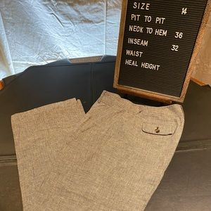 Curvy Fit Linen trousers